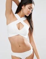 Missguided Wrap Over Premium Bandage Bikini Top