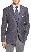 JB Britches Men's Workshop Classic Fit Herringbone Wool Sport Coat