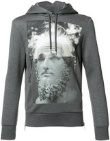 Neil Barrett printed hooded sweater - men - Viscose - XS