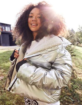 aerie OFFLINE Sherpa Lined Puffer Jacket