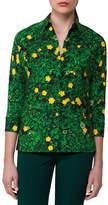 Akris Buttercup Floral-Print Silk Shirt