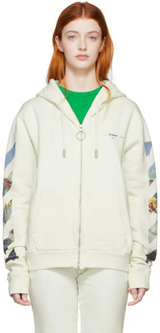 Off-White Diag Multicolor Zipped Hoodie