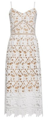 Dorothy Perkins Womens White Crochet Midi Dress, White
