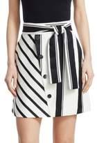 Maje Jonson Stripe Mini Skirt