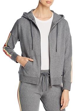Andrew Marc Contrast Detail Hooded Sweatshirt