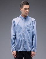 "Bedwin&the Heartbreakers Bedwin & The Heartbreakers ""Wyatt"" L/S Button Down Denim Shirt"