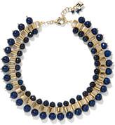 Rosantica Allodola Gold-tone Quartz Necklace - Storm blue