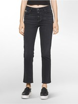 Calvin Klein Straight Leg High Rise Black Jeans