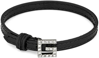 Gucci Leather bracelet with Square G