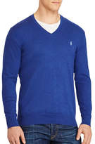 Polo Ralph Lauren Big and Tall Cotton-Cashmere V-Neck Sweater