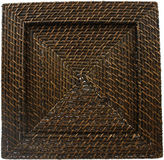 Jay Imports Square Woven Rattan Set of 4 Chargers