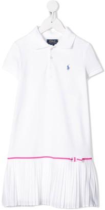 Ralph Lauren Kids pleated-hem polo shirt