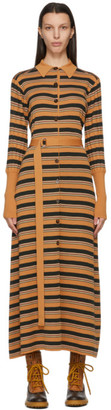 Chloé Tan Wool Striped Dress
