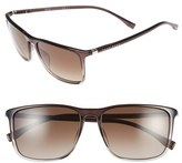 BOSS Men's 57Mm Retro Sunglasses - Brown/ Brown Gradient