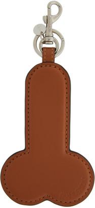 J.W.Anderson Brown Penis Keychain