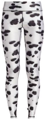 Terez Dalmation-Print Leggings