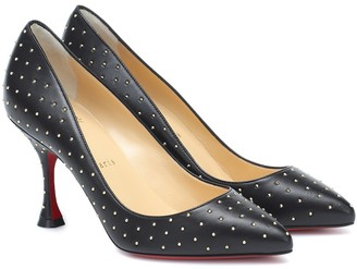 Christian Louboutin Pigalle 85 embellished leather pumps