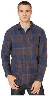Volcom Bassment Flannel Long Sleeve (Blue Black) Men's Long Sleeve Button Up