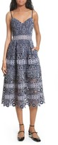 Self-Portrait Women's Embroidered Cutwork Midi Dress