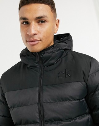 Calvin Klein Golf Lassen padded jacket in black