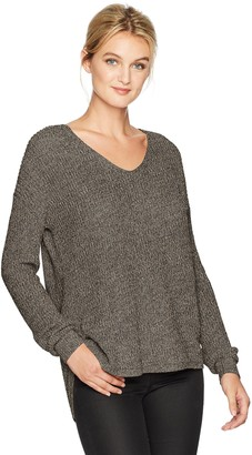 Michael Stars Women's Cotton Knit Long Sleeve V-Neck Pullover