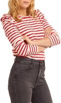 Rebecca Minkoff Talia Stripe Long Puff Sleeve Top