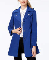 London Fog Petite Hooded Double-Collar Trench Coat