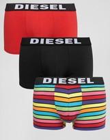 Diesel Stripe Trunks 3 Pack Multi
