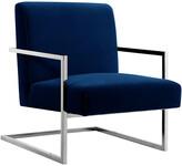 Nicole Miller Frankie Velvet Accent Chair