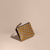 Burberry Geometric Tile Jacquard Zip-top Wallet