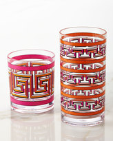 Jonathan Adler Orange Mykonos Acrylic Highball Glass