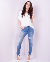 Missy Empire Nylah Patch Work Skinny Jeans