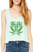 Xekia Best Buds Green Plant Marijuana Pot 420 Women Boxy Tank Top Clothes