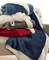 Biddeford CLOSEOUT! Biddeford Microplush Reverse Sherpa Heated Throws