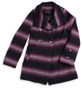Jessica Simpson Girls 7-16 Ombre Double-Breasted Coat