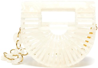 Cult Gaia Ark Nano acrylic crossbody chain belt bag