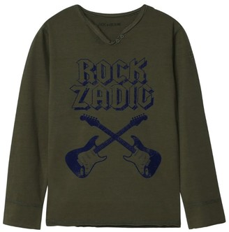 Zadig & Voltaire Rock Guitar Long-Sleeved T-Shirt (8-16 Years)