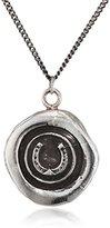 Pyrrha Unisex 925 Sterling Silver Horseshoe Talisman Necklace