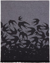 McQ by Alexander McQueen Grey Swallow Scarf