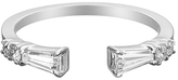 Jade Trau Open Baguette Diamond Ring - White Gold