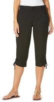 Gloria Vanderbilt Black Lillie Cargo Capri Pants