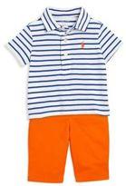 Ralph Lauren Baby's Three-Piece Striped Polo Shirt, Pants & Belt Set