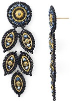 Miguel Ases Peacock Drop Earrings