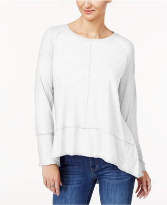 Style&Co. Style & Co Petite Seamed High-Low Top
