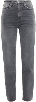 Rag & Bone Faded High-rise Tapered Jeans
