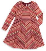 Rare Editions Girls 2-6x Open-Knit Long-Sleeve A-Line Dress