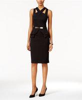 Thalia Sodi Halter Peplum Sheath Dress, Only at Macy's