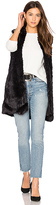 John & Jenn by Line Laurent Faux Fur Vest in Black. - size M (also in )