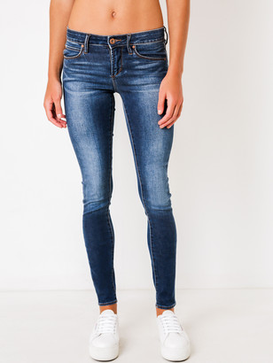 Articles of Society Sarah Mid Rise Skinny Jeans in Glendale Denim