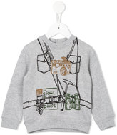 Stella McCartney Billy explorer print sweatshirt - kids - Cotton/Spandex/Elastane - 6 mth